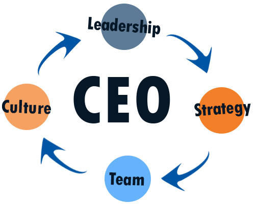 Infographic demonstrating CEO Coaching leadership